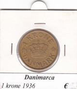 DANIMARCA   1  KRONE  1936  COME DA FOTO - Danimarca