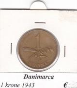 DANIMARCA   1  KRONE  1943  COME DA FOTO - Danimarca