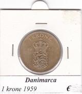 DANIMARCA   1  KRONE  1959  COME DA FOTO - Danimarca
