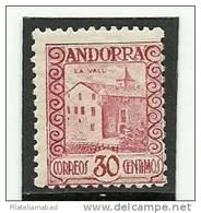 ANDORRA C.ESPAÑOL ESTE SELLO O UNO MUY SIMILAR -  SIN FIJASELLOS+++ YVERT Nº 35(S.1) - Andorra Española