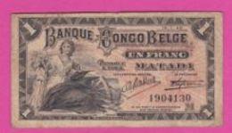 Billet - BELGIQUE - CONGO BELGE - 1 Franc Du 15 01 1920 - PICK 3 B - [ 5] Belgian Congo