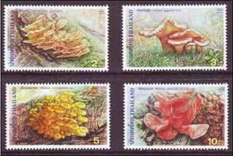 Thailand 2001 Mushrooms (4v) MNH (M-356)
