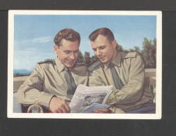 1961. USSR. Postcard.Cosmonauts Titov And Yuri Gagarin (photo With A Newspaper) No. X-26
