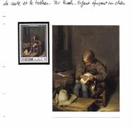 La Carte Et Le Tableau - Ter Borch - Enfant épuçant Son Chien - Art