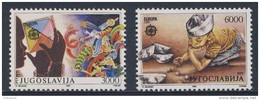 Jugoslavija Yugoslavia 1989 Mi 2340 /1 YT 2222 /3 ** Girl Looking Through Magic Cube + Boy Playing Marbles, Paper Boats - Andere