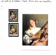 La Carte Et Le Tableau - Tiepolo - Femme Avec Une Mandoline - Art