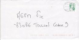 Oblitération Militaire SODEXO  AP SPID 262 .LV De Carnet Marianne De  Ciappa - Marcophilie (Lettres)