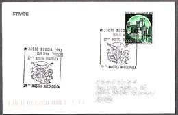 29 EXPOSICION MICOLOGICA - SETAS - MUSHROOMS. Budoia, Pordenone, 1996 - Champignons