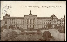 Lwow, Gmach Sejmowy, Lemberg, Landtags-Gebäude, 11.8.1915, K.u.k. Militär-Zensur, - Ukraine