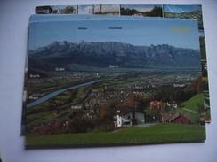 Liechtenstein Rheintal  Blick Auf Vaduz - Liechtenstein