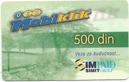Yugoslavia Serbia GSM Prepaid Recharge Card Used - Yugoslavia