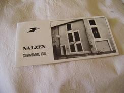 SOUVENIR PHILATHELIQUE A L' OCCASION De L' INAUGURATION Du NOUVEL HOTEL Des POSTES De  NALZEN  ( ARIEGE ) ,,,1985,,,TBE - Briefmarken