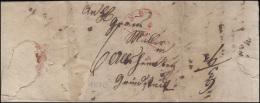 Bayern Vorphilatelie Brief Roter Halbkreisstempel SPEYER 6.5.1838 - Bavaria