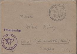 Postsache Mit SSt NEHEIM-HÜSTEN 1 STADT DER LEUCHTEN 10.2.1951 Nach Schönebeck - Electricity