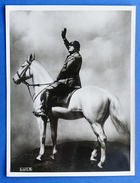 Fotografia Del Dipinto Di Benito Mussolini A Cavallo - Istituto Luce - 1935 Ca. - Persone Identificate