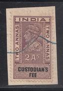 India  KG VI  2A  Custodian's Fee   # 94251   Inde Indien  Fiscaux Fiscal Revenue - Andere