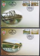Bosnia - Republic Of Srpska 2000 Bridges On Drina River, FDC (First Day Cover) Michel 162-165 - Bosnia And Herzegovina