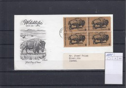 USA FDC Michel Cat.No. 1004 As Bloc Of Four - First Day Covers (FDCs)
