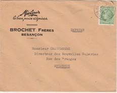 Enveloppe Commerciale / BROCHET Frères / Miel Pur / Le Bon Pain D'épices / 25 Besançon / Céres 2 F - Cartes