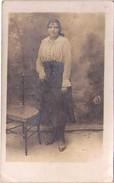 Portrait De Jeune Fille - Carte-photo 1917 - Women