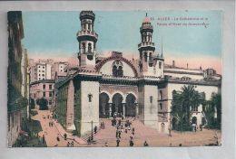 CPA Colorisée - Alger (Algérie) - 29. La Cathédrale Et Le Palais D'Hiver Du Gouverneur - Alger