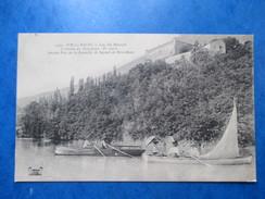 SAVOIE  73   AIX -LES- BAINS  -  LAC DU BOURGET   -  CANOT ET VOILIER      ANIME   TTB - Aix Les Bains