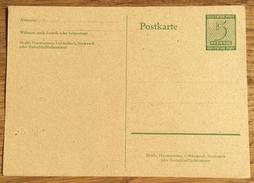 German Occupation West-Sachsen Sovjet Zone 1945 Ziffern Postkarte P 16 **, Unused - Sovjetzone