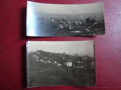 Lot De 2 Photos  Vue De Salonique Et De La Rade Mont  Juillet 1916