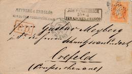 Lettre N°31 Paris Etoile 26 Gare Du Nord Aus Frankreich Prusse - 1849-1876: Période Classique
