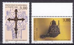 1996, Andorra, Fr., 495/96, Religiöse Kunst.  MNH **, - Andorre Français