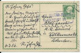 AK 0664  Ganzsache ( Kaiserl- Post 5 Heller )  Von Klagenfurt Nach Völkermarkt Um 1916 - Ganzsachen