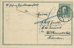 AK 0664  Ganzsache ( Kaiserl- Post 8 Heller )  Von Klagenfurt Nach Völkermarkt Um 1917 - Ganzsachen