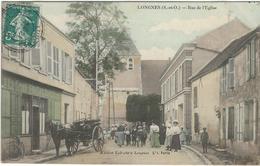 Yvelines : Longnes, Rue De L'Eglise, Belle Animation, Carte Couleur - Altri Comuni