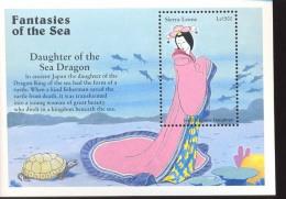 MINT NEVER HINGED SOUVENIR SHEET OF FISH-MARINE LIFE  #   900-01  (  SIERRA LEONE   1934    FANTASIES OF THE SEA - Poissons