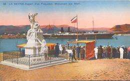 LA SEYNE SUR MER DEPART D UN PAQUEBOT MONUMENT AUX MORTS - La Seyne-sur-Mer
