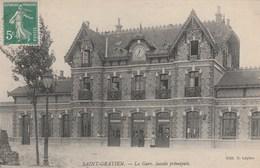 CPA 95 SAINT-GRATIEN LA GARE FACADE PRINCIPALE - Saint Gratien