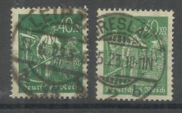 """Deutsches Reich 244a,244b """"2 Briefmarken Aus Satz:Arbeiter In 2 Von 3 Verschiedenen Farben"""" Gestempelt  Mi.: 5,50 € - Allemagne"""