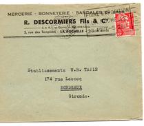 MERCERIE - B. -S. - DESCORMIERS - LA ROCHELLE - Old Professions