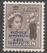 Cyprus. 1960-61 Republic Overprint. 5m MH. SG 188 - Unused Stamps