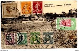 CP De Likasi_ Lusambo Via Djibouti_Zanzibar_Tanganyika_Dar Es Salam (1924) Via La Réunion Pour Marseille_paquebot