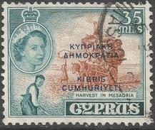 Cyprus. 1960-61 Republic Overprint. 35m Used. SG 196 - Cyprus (Republic)