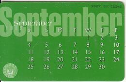 U.A.E.(chip) - Calendar/September, Used