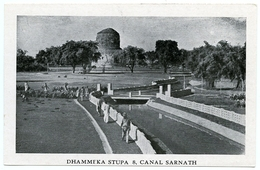 INDIA : SARNATH : DHAMMEKA STUPA & CANAL - India