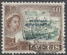 Cyprus. 1960-61 Republic Overprint. 40m Used. SG 197 - Cyprus (Republic)