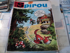 SPIROU N°1531 DU 17 AOUT 1967. 1° PLAT DE DERIB GASTON LAGAFFE / ROSY - Spirou Magazine