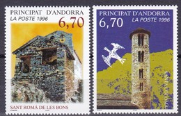 1996, Andorra, Fr., 503/04, Tourismus: Romanische Kapellen.  MNH **, - Andorre Français