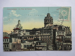 TURQUIE    SALUT DE CONSTANTINOPLE -  LA TOUR DE GALATA      TTB - Turkey