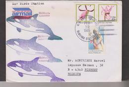 O) 1985 UNITED STATES, MC PURDO STATION ANTARCTICA- US NAVY FPO, GENERAL BERNARDO DE GALVEZ-BATTLE OF MOBILE 1780, ORCHI - Covers & Documents