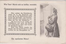 AK - Kunstkarte (Verlag: M.M.S. Wien) EIN OPULENTES MENÜ Um 1910 - Küchenrezepte