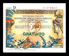 Billet D'entrée De Musée (art. N° 587) - Monete & Banconote